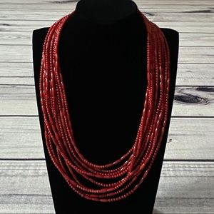 Jay King Multi Stranded Red Coral Necklace
